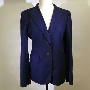 Loro Piana Blue Blazer Jacket Baby Cashmere 48 12